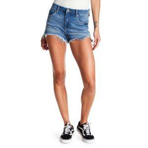 BlankNYC Wedge high rise denim shorts